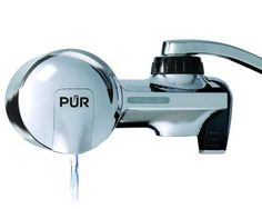 PUR Chrome Horizontal Faucet Mount with 1 MineralClear Filter - PUR chrome horizontal faucet mount with 1 mineral clear filter. PUR is certified to reduce over 70 contaminants, including of lead, of agricultural pesticide and mercury. PUR is certified .