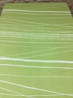 Tablecloth moss green with white streaks, modern style, by SiKriDream on Etsy