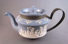 Classical jasperware teapot, c.1840 via Past Imperfect: the art of inventive repair.