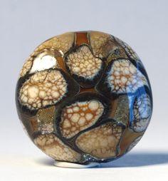 Handmade+Lampwork+Bead+Large+Organic+Lentil+by+lynnesalecreations,+$18.00