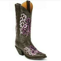 New!! Justin Purple Cross Cowgirl Boots Sz 7