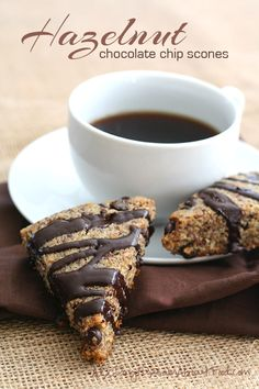 These healthy low carb scones are made with hazelnut flour and sugar-free chocolate. Grain-free and gluten-free.