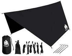 I just saw this and had to have it Chill Gorilla Pro Waterproof Tent Tarp, Rain Fly and Hammock Shelter [Essential Camping and Survival Gear] RIPSTOP Nylon Black you can {read more about it here http://bridgerguide.com/chill-gorilla-pro-waterproof-tent-tarp-rain-fly-and-hammock-shelter-essential-camping-and-survival-gear-ripstop-nylon-black/