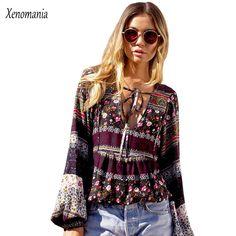 Offer Today $15.44, Buy Boho Blouse Chemise Femme Women Blouses Kimono Blusas 2017 Hippie Plus Size Vintage Ethnic Floral Blusa Feminina Shirt Tunic New