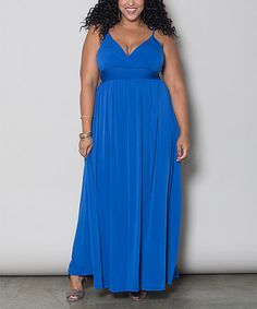 Look what I found on #zulily! Royal Blue Sabrina Maxi Dress - Plus by Sealed With a Kiss Designs #zulilyfinds