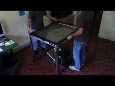 Build your own multi-touch table. Possibly the coolest DIY Project yet. Touch Screen Table, Diy Paper, Paper Crafting, Diy Tv, Multi Touch, Diy Desk, Craft Organization, Cool Diy Projects, Diy Table