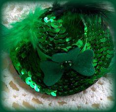 St Patricks Hair ClipGreen Hair ClipIrish Hair by kikibowz on Etsy, $6.50