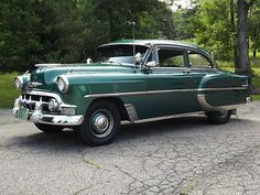 1953 Chevrolet Bel Air 2-Door Sedan Bel Air Car, 1954 Chevy Bel Air, 1954 Chevy Truck, Chevrolet Bel Air, Chevrolet Corvette, Vintage Cars, Antique Cars, Gm Car, Cars Usa