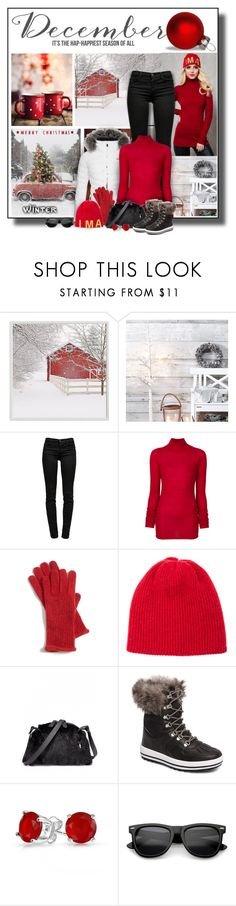 """""""December"""" by diva1023 ❤ liked on Polyvore featuring Pottery Barn, J Brand, Joseph, Nordstrom, The Elder Statesman, Cougar and Bling Jewelry"""