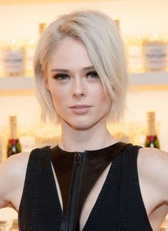 Supermodel Coco has had many incarnations, mainly at different designers' behests. But the natural brunette has gone shocking platinum blonde which, interestingly, suits her pale skin.
