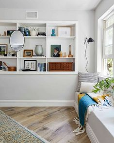 Our Guest Room/Office Basement Suite Reveal ... + How To Make A Basement (Office) Feel Warm, Happy And Functional - Emily Henderson #beforeandafter #homerenovation #homedesign #interiors