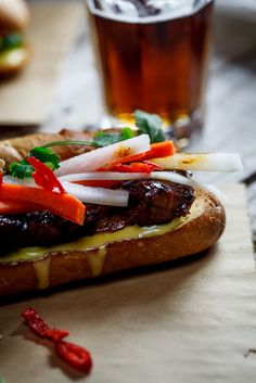 Caramelised Pork Bahn Mi #Recipe #Sandwich