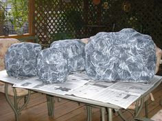 Rock party on pinterest rock climbing party rock for Papier mache rocks