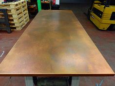 zinc, brass, bronze table tops to order Copper Top Table, Zinc Table, Oak Table Top, Metal Dining Table, Dining Room Table, Copper Furniture, Copper Interior, Built In Cupboards, Home Bar Designs