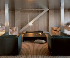Interior Design by Giorgio Armani  for his own yacht.