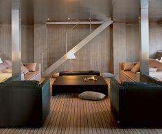 Interior Design by Giorgio Armani  for his own yacht.