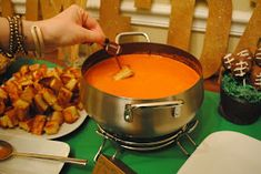 "As promised, here's the Creamy Tomato Soup recipe from the Superbowl Party.  My friend Hillary said it was, and I quote: ""my cousin's wifes..."