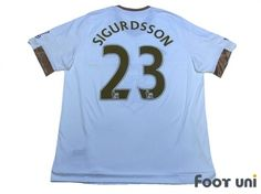 Photo2: Swansea City 2015-2016 Home Shirt #23 Sigurdsson BARCLAYS PREMIER LEAGUE Patch/Badge adidas - Football Shirts,Soccer Jerseys,Vintage Classic Retro - Online Store From Footuni Japan