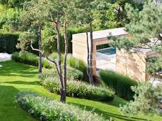 // By Enzo Enea Landscape Architecture. Photos courtesy of Enzo Enea Landscape Architecture. Some of it interesting BJ Contemporary Cottage, Contemporary Doors, Contemporary Landscape, Contemporary Style, Contemporary Architecture, Contemporary Apartment, Contemporary Wallpaper, Contemporary Chandelier, Contemporary Office