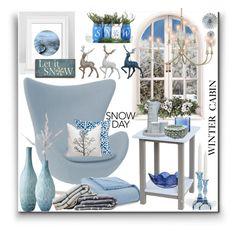 """Winter Cabin"" by marionmeyer on Polyvore featuring interior, interiors, interior design, Zuhause, home decor, interior decorating, Rove Concepts, Lazy Susan, DutchCrafters und Kosta Boda"