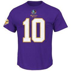 Fran Tarkenton Minnesota Vikings Purple Eligible Receiver Name and Number Tshirt Medium >>> Read more  at the image link.