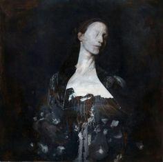 Nicola Samori #art #dark #painting #portrait