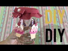 Como Fazer Pote de Vidro decorado com EVA - Do Lixo ao Luxo, Artesanato DIY - YouTube Diy, Glass, Youtube, Decorated Bottles, Pinecone Decor, Glass Jars, Craft Ideas, Tips And Tricks, Mason Jars