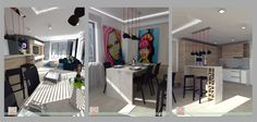 návrh trojizbového bytu v Dolnom Kubíne Vintage Fashion, Loft, Bed, House, Furniture, Home Decor, Style, Swag, Decoration Home