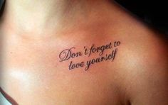 Don't Forget to love yourself !