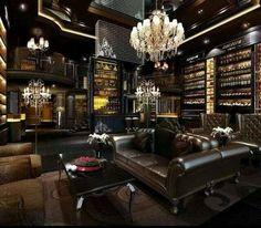 liquor bottle library