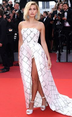 HAILEY BALDWIN in Ralph & Russo gown at The Beguiled premiere - Cannes 2017