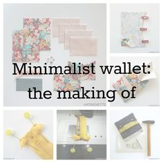 Minimalist wallet: the making of Minimalist Wallet, Minimalist Fashion, Wallet Tutorial, Clutch Wallet, Diy Wallet, Clever Design, Branded Bags, Innovation Design, Sewing Tutorials