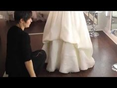 bustle styles - How To Bustle Your Wedding Dress - YouTube