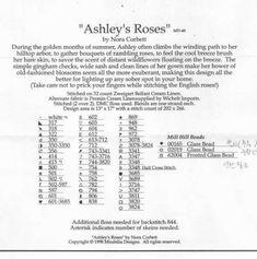 Ashley's Roses - 6/6 Solo Patrones Punto Cruz (pág. 396)   Aprender manualidades es facilisimo.com