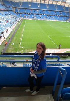 """fot.Wioleta Talaga: """"...najciekawszym miejscem w Poznaniu jest wg mnie oczywiście Inea Stadion. Nic nie może się równać z atmosferą, jaka panuje na tym niesamowitym obiekcie w czasie meczu. Nie wierzysz? Przyjdź i się przekonaj!;)"""""""
