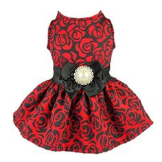 Fitwarm® Elegant Rose Bowknot Belt Dog Dress for Pet Cat Coat Vest Clothes, Medium Fitwarm http://www.amazon.com/dp/B00LP7OOGI/ref=cm_sw_r_pi_dp_5dNxwb0DW3067