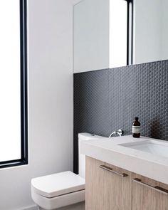 #bathroom #interiors #designporn #interiordesign #inspiration #pennyrounds #mosaic #tiles #tiling #architecture #building #renovation #accessories #adelaide #southaustralia #deluxebts Image via Pinterest. by deluxe_bts