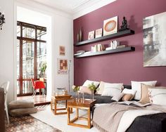 New Wall Color Living Room Purple Ideas Living Room Colors, Bedroom Colors, Living Room Decor, Living Area, Wall Colors, House Colors, Colours, Purple Walls, Home Decor Furniture