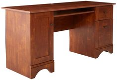 Amazing offer on Sauder Computer Desk, Brushed Maple finish online - Prettytrendyfashion Computer Workstation, Office Computer Desk, Home Office Desks, Home Office Furniture, Cherry Desk, Small Computer, Buy Desk, Winsome Wood
