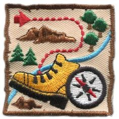 Adventure Map (Iron On) Embroidered Patch by E-Patches & Crests
