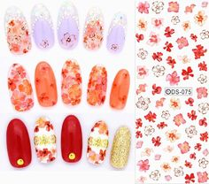 DS072 2017 Nail Design Water Transfer Nails Art Sticker Colored Butterfly Nail Wraps Sticker Watermark Fingernails Decals