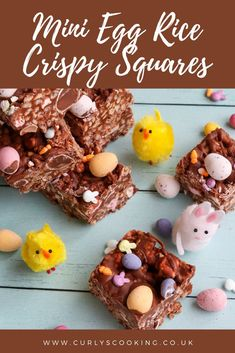 My Mini Egg Rice Crispy Squares are the essential Easter treat for any chocolate fanatic. So easy and incredibly tasty but do not blame me when you can't stop yourself from eating more than one! Chocolate Rice Crispy, Chocolate Mix, Gluten Free Chocolate, Melting Chocolate, Easy Easter Desserts, Easter Treats, Rice Crispy Squares, Chocolate Garnishes, British Recipes