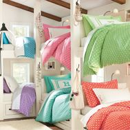 bunk beds<3 mine the pink one of course!