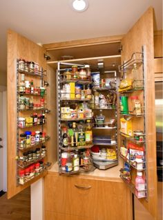 Spice Cabinet. Like maws pantry.
