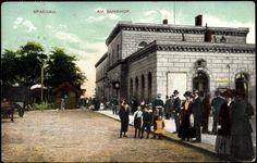 """ca 1910 Bahnhof Spandau (seit den 90er Jahren """"Stresow"""")"""