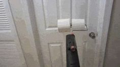 Toilet Paper + Leaf Blower = Awesome.