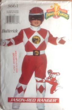 Butterick 3661 Boys Girls Jason Red Ranger Power by mbchills