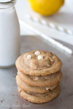 Lemon White Chocolate Chip Cookies | Pretty. Simple. Sweet.