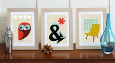 Printable Mid Century art  Set No 5.  50% OFF during Black Friday with coupon code HALFOFFBF