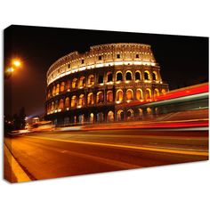 NuCasa Rome Coliseum City Canvas Print ($60) ❤ liked on Polyvore featuring home, home decor, wall art, modern wall art, modern home accessories, photo wall art и modern home decor
